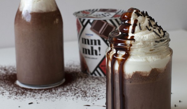 Milkshake de mousse de chocolate