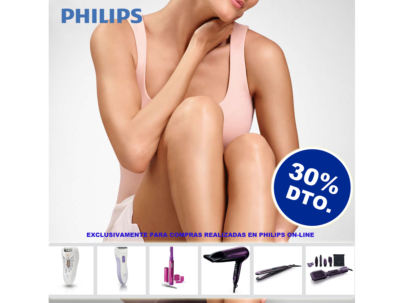 30% de dte. Web PHILIPS Bellesa